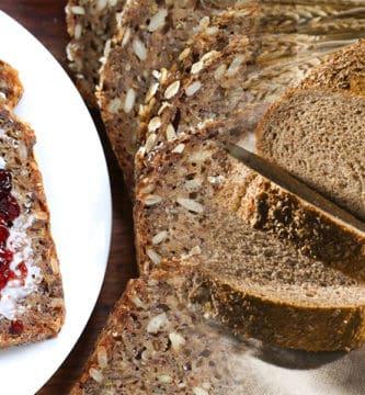 pão integral caseiro receita